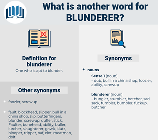 blunderer, synonym blunderer, another word for blunderer, words like blunderer, thesaurus blunderer