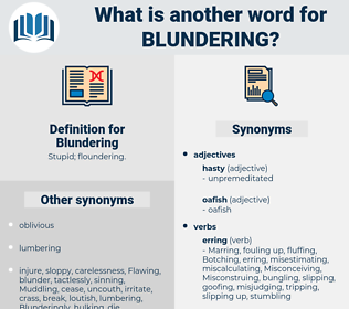 Blundering, synonym Blundering, another word for Blundering, words like Blundering, thesaurus Blundering