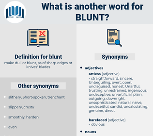 blunt, synonym blunt, another word for blunt, words like blunt, thesaurus blunt