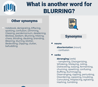 Blurring, synonym Blurring, another word for Blurring, words like Blurring, thesaurus Blurring