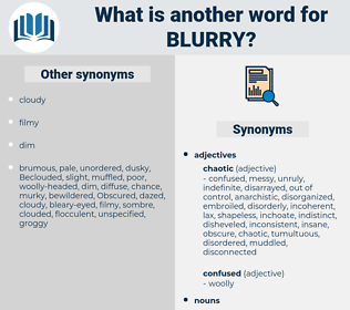 blurry, synonym blurry, another word for blurry, words like blurry, thesaurus blurry