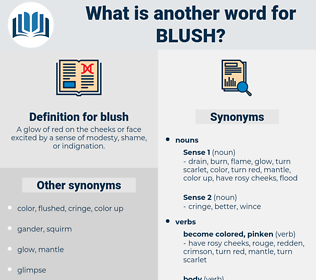 blush, synonym blush, another word for blush, words like blush, thesaurus blush