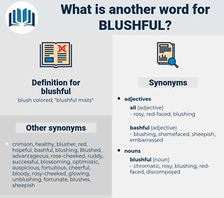 blushful, synonym blushful, another word for blushful, words like blushful, thesaurus blushful