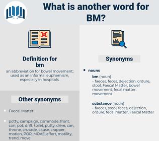 bm, synonym bm, another word for bm, words like bm, thesaurus bm