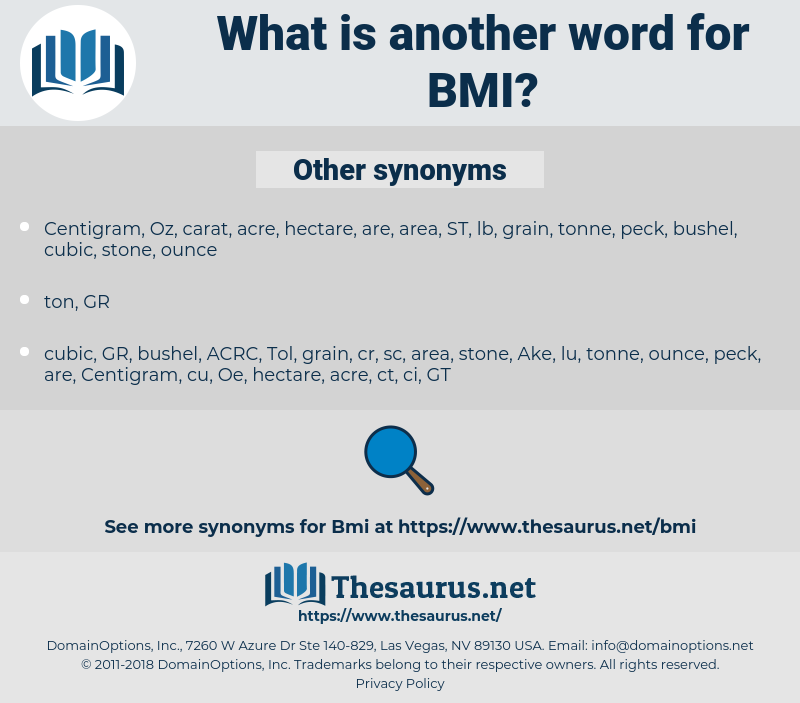 BMI, synonym BMI, another word for BMI, words like BMI, thesaurus BMI