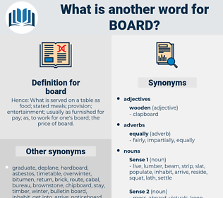 board, synonym board, another word for board, words like board, thesaurus board