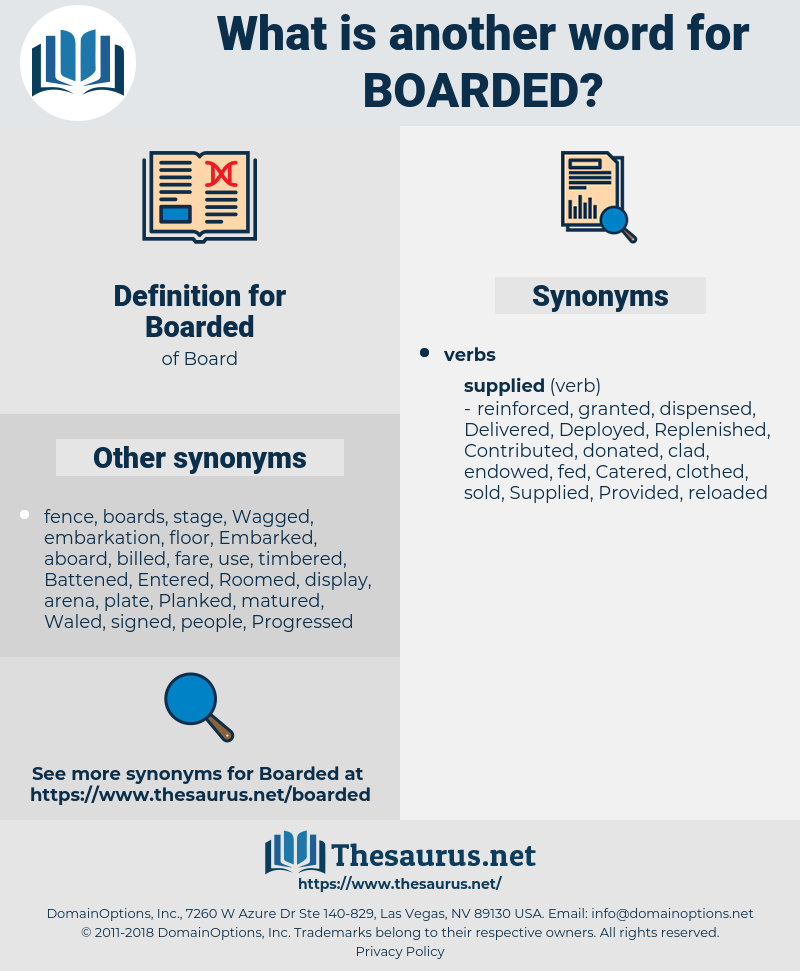 Boarded, synonym Boarded, another word for Boarded, words like Boarded, thesaurus Boarded