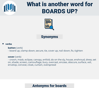 boards up, synonym boards up, another word for boards up, words like boards up, thesaurus boards up