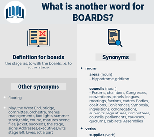 boards, synonym boards, another word for boards, words like boards, thesaurus boards
