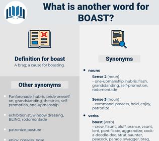 boast, synonym boast, another word for boast, words like boast, thesaurus boast