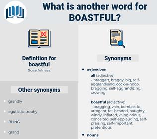 boastful, synonym boastful, another word for boastful, words like boastful, thesaurus boastful