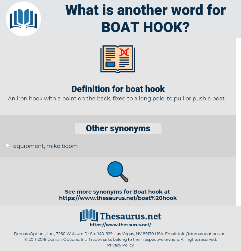 boat hook, synonym boat hook, another word for boat hook, words like boat hook, thesaurus boat hook