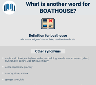 boathouse, synonym boathouse, another word for boathouse, words like boathouse, thesaurus boathouse