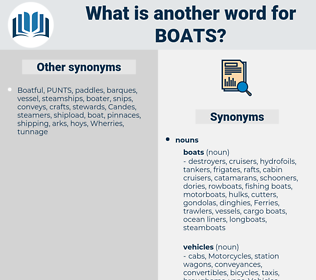 Boats, synonym Boats, another word for Boats, words like Boats, thesaurus Boats