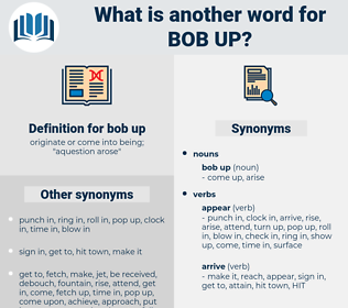 bob up, synonym bob up, another word for bob up, words like bob up, thesaurus bob up