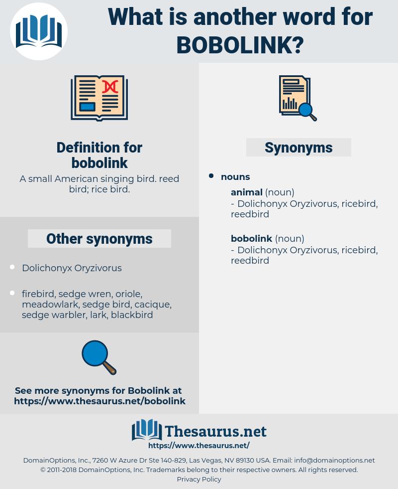 bobolink, synonym bobolink, another word for bobolink, words like bobolink, thesaurus bobolink