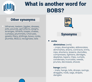 bobs, synonym bobs, another word for bobs, words like bobs, thesaurus bobs