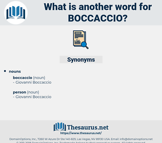 boccaccio, synonym boccaccio, another word for boccaccio, words like boccaccio, thesaurus boccaccio