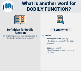 bodily function, synonym bodily function, another word for bodily function, words like bodily function, thesaurus bodily function
