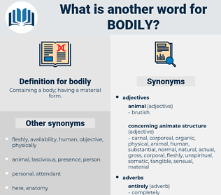 bodily, synonym bodily, another word for bodily, words like bodily, thesaurus bodily