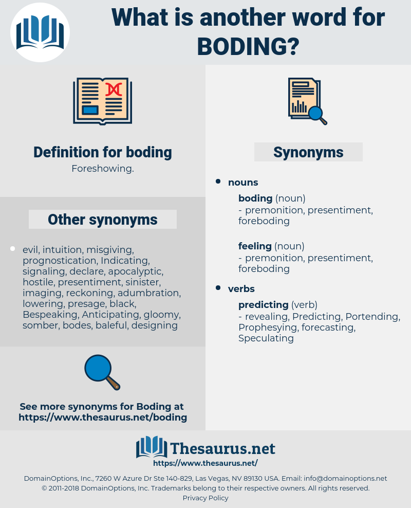 boding, synonym boding, another word for boding, words like boding, thesaurus boding