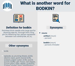 bodkin, synonym bodkin, another word for bodkin, words like bodkin, thesaurus bodkin