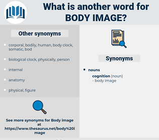 body image, synonym body image, another word for body image, words like body image, thesaurus body image