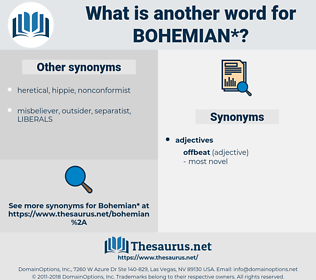 bohemian, synonym bohemian, another word for bohemian, words like bohemian, thesaurus bohemian