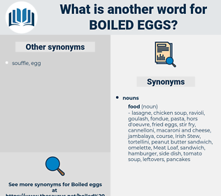 boiled eggs, synonym boiled eggs, another word for boiled eggs, words like boiled eggs, thesaurus boiled eggs