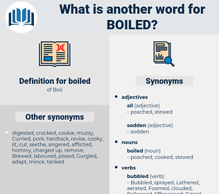 boiled, synonym boiled, another word for boiled, words like boiled, thesaurus boiled