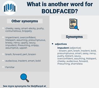 boldfaced, synonym boldfaced, another word for boldfaced, words like boldfaced, thesaurus boldfaced