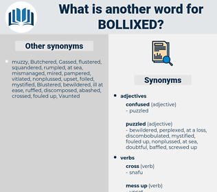 bollixed, synonym bollixed, another word for bollixed, words like bollixed, thesaurus bollixed