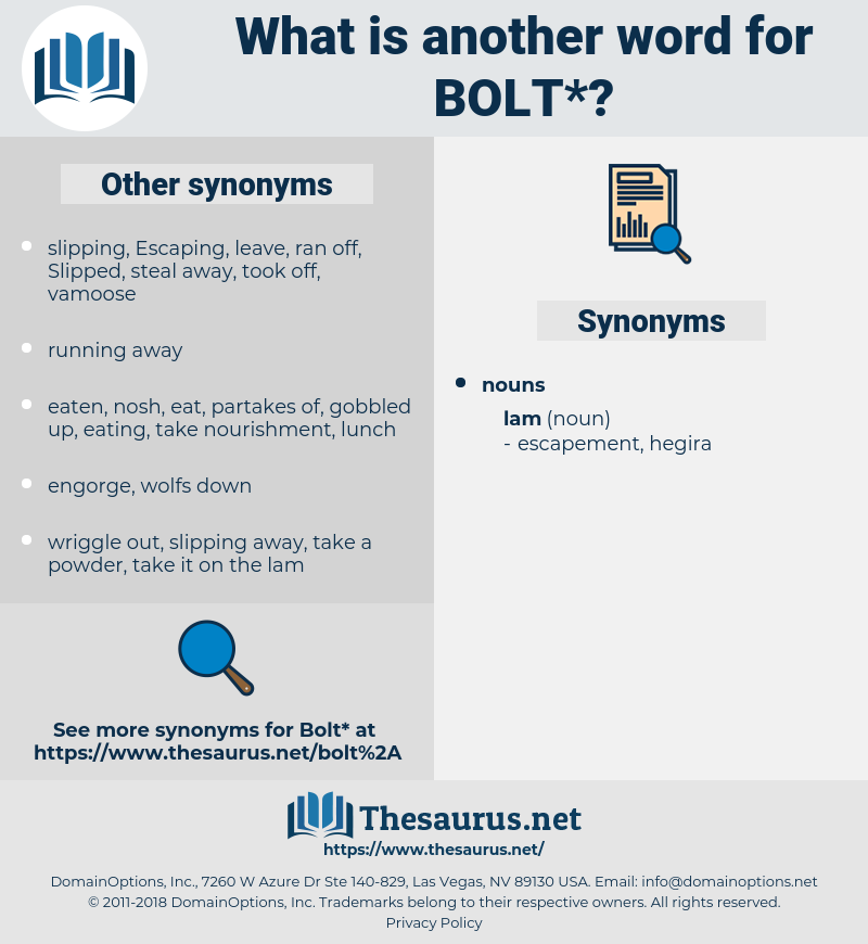 bolt, synonym bolt, another word for bolt, words like bolt, thesaurus bolt