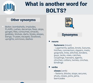 bolts, synonym bolts, another word for bolts, words like bolts, thesaurus bolts