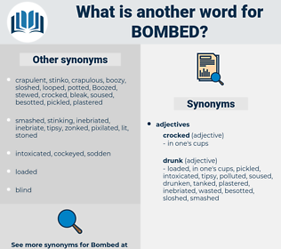 bombed, synonym bombed, another word for bombed, words like bombed, thesaurus bombed