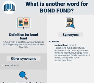 bond fund, synonym bond fund, another word for bond fund, words like bond fund, thesaurus bond fund