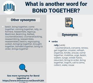 bond together, synonym bond together, another word for bond together, words like bond together, thesaurus bond together