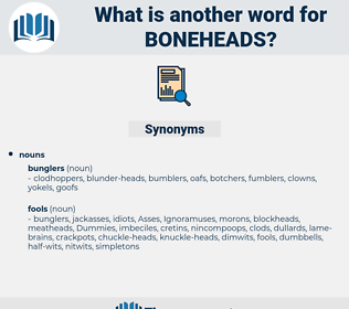 boneheads, synonym boneheads, another word for boneheads, words like boneheads, thesaurus boneheads