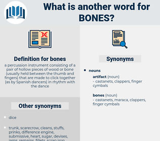 bones, synonym bones, another word for bones, words like bones, thesaurus bones
