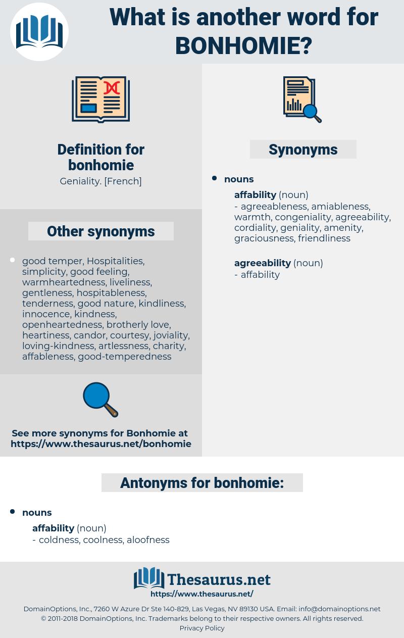 bonhomie, synonym bonhomie, another word for bonhomie, words like bonhomie, thesaurus bonhomie