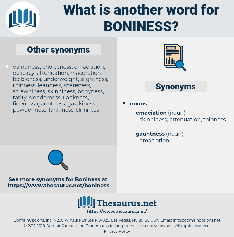 Boniness, synonym Boniness, another word for Boniness, words like Boniness, thesaurus Boniness