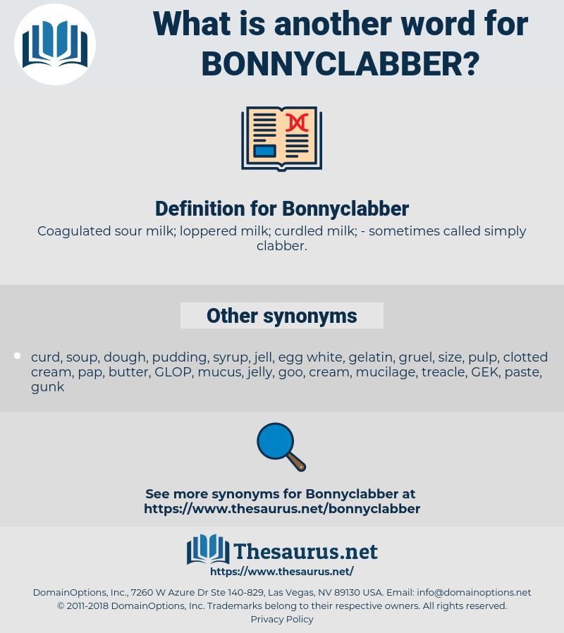 Bonnyclabber, synonym Bonnyclabber, another word for Bonnyclabber, words like Bonnyclabber, thesaurus Bonnyclabber
