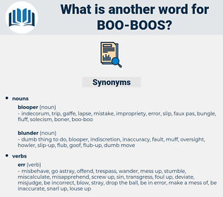boo-boos, synonym boo-boos, another word for boo-boos, words like boo-boos, thesaurus boo-boos