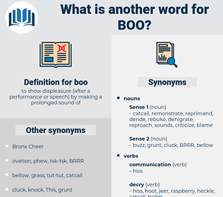 boo, synonym boo, another word for boo, words like boo, thesaurus boo