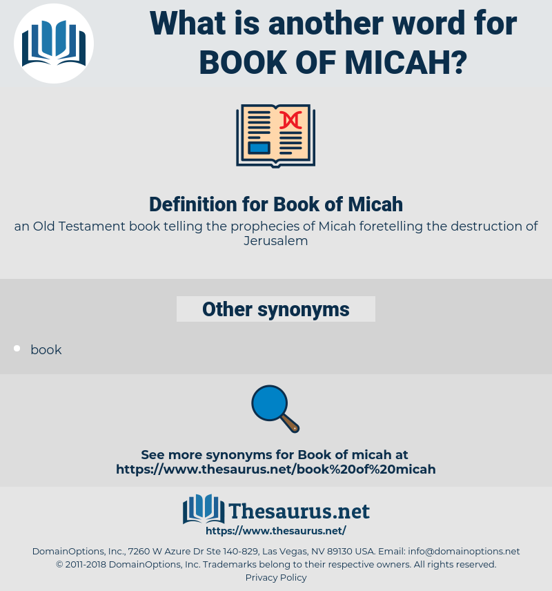 Book of Micah, synonym Book of Micah, another word for Book of Micah, words like Book of Micah, thesaurus Book of Micah