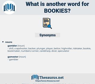 bookies, synonym bookies, another word for bookies, words like bookies, thesaurus bookies