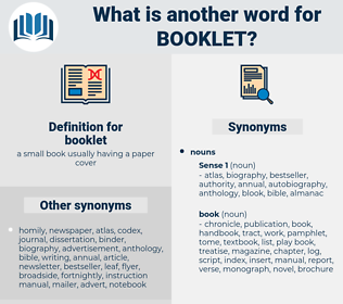 booklet, synonym booklet, another word for booklet, words like booklet, thesaurus booklet