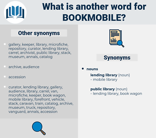 bookmobile, synonym bookmobile, another word for bookmobile, words like bookmobile, thesaurus bookmobile