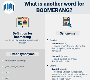 boomerang, synonym boomerang, another word for boomerang, words like boomerang, thesaurus boomerang