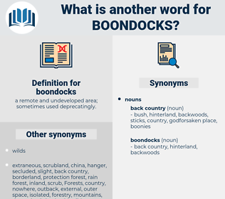boondocks, synonym boondocks, another word for boondocks, words like boondocks, thesaurus boondocks